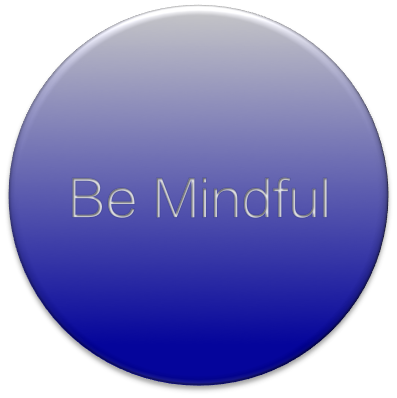 Be Mindful badge Lantinghei SC Extralight Blue